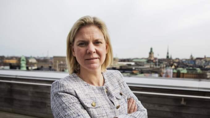 – Bra, inte minst för en del äldre, men också för tanter i min ålder i ärlighetens namn, säger finansminister Magdalena Andersson S. Foto: Lisa Mattisson