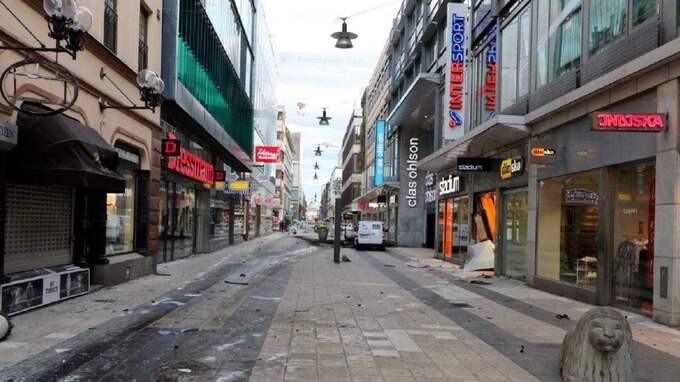 Drottninggatan efter terrordådet. Foto: POLISEN/TT / TT NYHETSBYRÅN