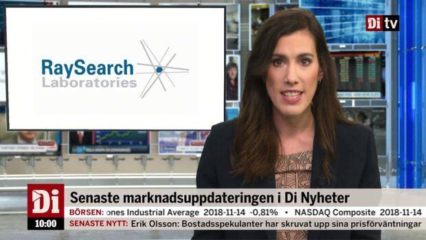 Di Nyheter 10.00 15 nov - Raysearch rusar efter rapporten