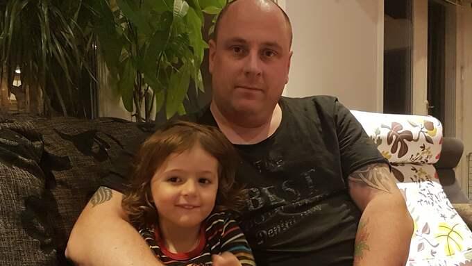 Mattias Wärnegård med dottern Ilma. Foto: Privat