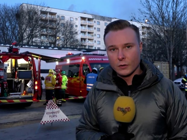"""Expressen på plats vid branden: """"Smått kaotiskt på platsen"""""""