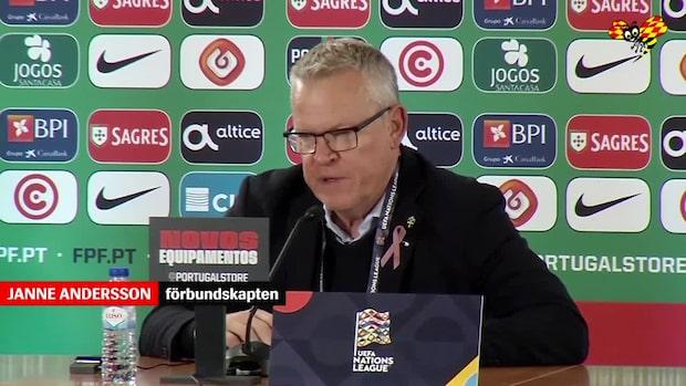 """Janne Andersson: """"Det är irriterande"""""""