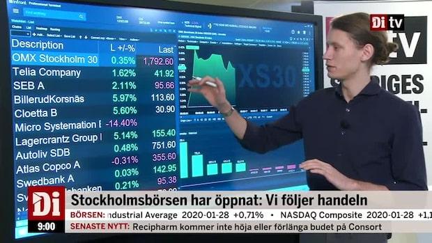 Börsöppning: OMXS30 upp - Billerud och Cloetta klättrar