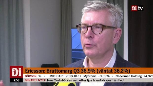 Ericssons bruttomarginal över förväntan
