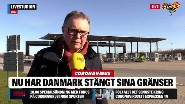 Här stoppas vår reporter på Öresundsbron