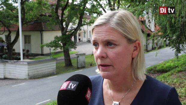 Magdalena Andersson om landets ekonomiska utsikt