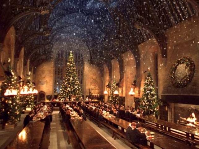 Stora salen kommer att dekoreras som under julbalen i filmen: Harry Potter och den flammande bägaren.