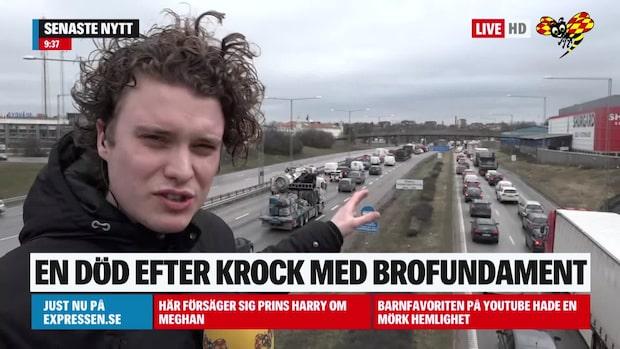 """""""Väldigt trögt i södergående riktning efter olycka"""""""