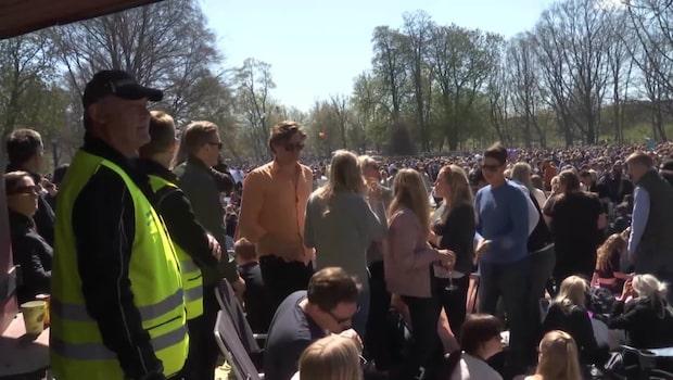 Hundratals ungdomar tagna med sprit på Valborg