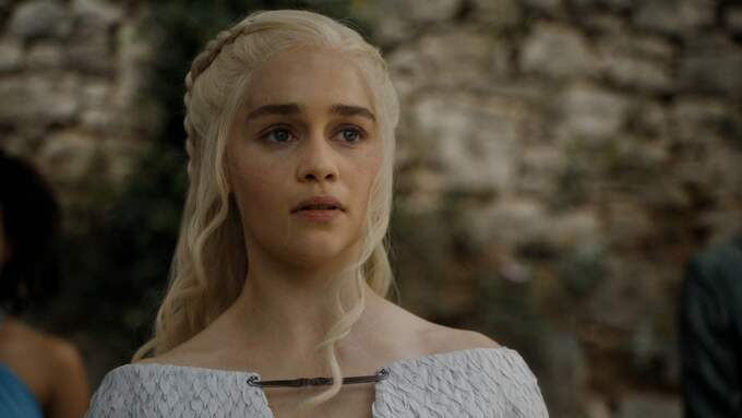 Emilia Clarke som Daenerys Targaryen. Foto: SUPPLIED BY LMK / SUPPLIED BY LMK/ALL OVER PRESS LANDMARK MEDIA LTD