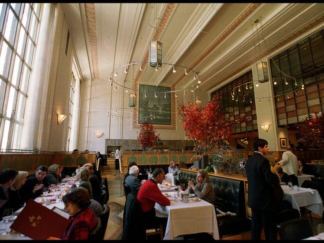Insidan från Eleven Madison Park, i New York, USA, som under onsdagen utsågs till världens bästa restaurang.