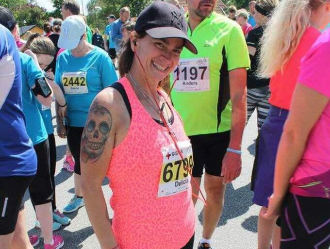 Löpningen blev Delicia Ferris räddning efter makens död. Foto: Privat
