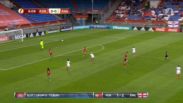 TV: England vann - efter målvaktens supertabbe