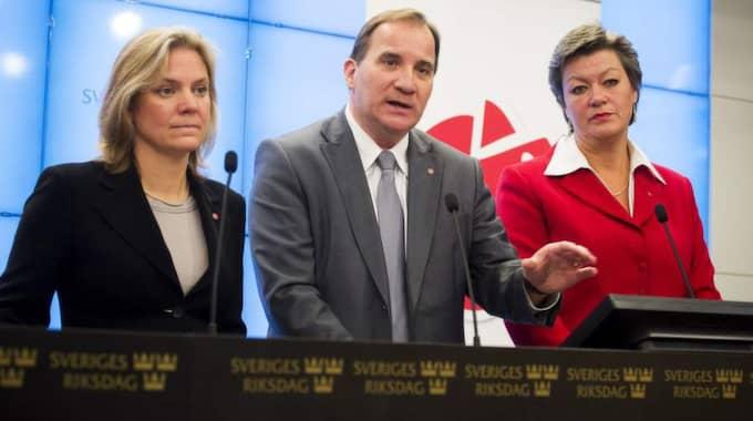 Socialdemokraternas partiledare Stefan Löfven har ännu inte satt ned foten i frågan om föräldraförsäkringen. Nu utmanas han av partiets talesperson i jämställdhetsfrågor. Foto: Suvad Mrkonjic