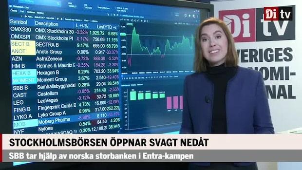 Marknadskoll: Stockholmsbörsen öppnar nedåt – Sectra rusar på rapport