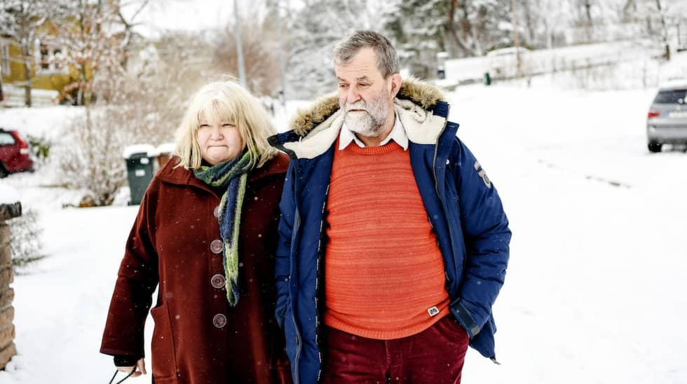Pelle och Ingrid Holmbergs liv förändrades för ett år sedan. Foto: Alex Ljungdahl / ALEX LJUNGDAHL EXPRESSEN
