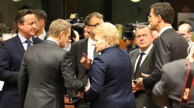 Ledarna ska fortsätta mötet under fredagen. Foto: Kristofer Sandberg