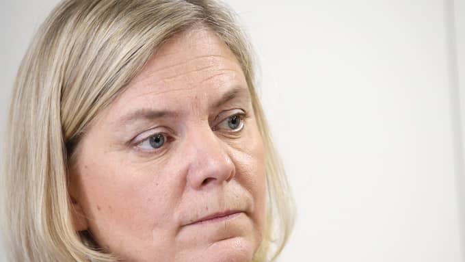 Finansminsiter Magdalena Andersson har på fredagskvällen inte kommenterat uppgifterna om Nordeas flytt från Sverige. Foto: CHRISTINE OLSSON/TT